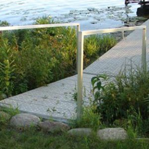 Ramp with handrail